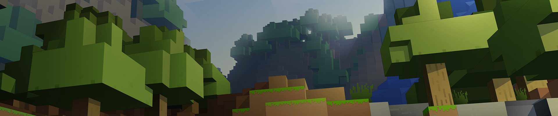 Minecraft game art illustration of a daytime world.