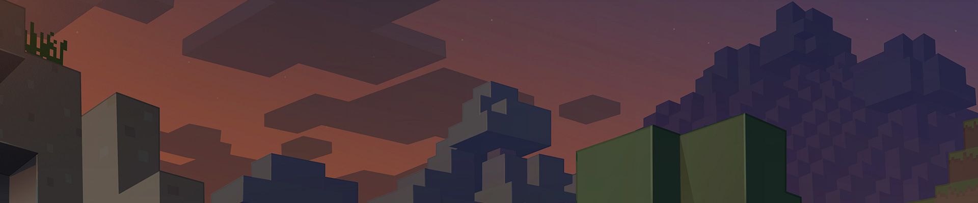 Minecraft game art illustration of a nighttime world.