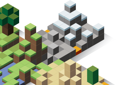 Minecraft block art illustration.