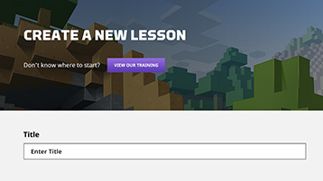 Site interface screenshot: create a lesson page.